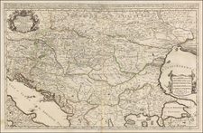 Austria, Hungary, Romania and Balkans Map By William Berry
