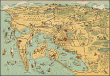 Pictorial Maps and California Map By Lowell E. Jones