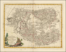 China, Central Asia & Caucasus and Russia in Asia Map By Antonio Zatta