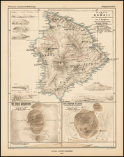 Hawaii and Hawaii Map By Augustus Herman Petermann