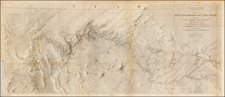 Southwest and California Map By Joseph C. Ives