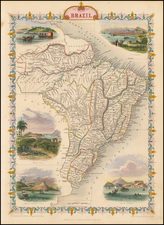Brazil Map By John Tallis