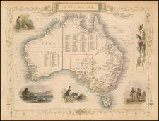Australia Map By John Tallis