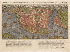 Turkey and Turkey & Asia Minor Map By Sebastian Munster