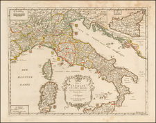 Italy Map By Pierre Du Val