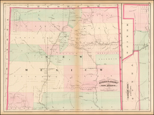 Southwest, New Mexico and Rocky Mountains Map By Asher  &  Adams