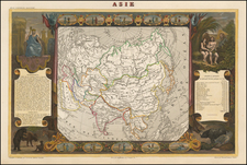 Asia and Asia Map By Victor Levasseur