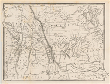 Plains, Rocky Mountains and Canada Map By Pierre De Smet