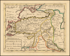 Turkey and Turkey & Asia Minor Map By Herman Moll