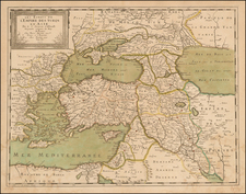 Turkey, Central Asia & Caucasus and Turkey & Asia Minor Map By Nicolas Sanson