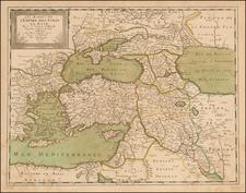 Turkey, Central Asia & Caucasus and Turkey & Asia Minor Map By Nicolas Sanson