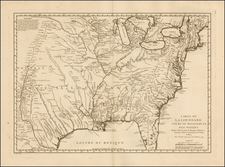 South, Midwest and Plains Map By Jacques Nicolas Bellin