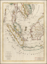 Southeast Asia, Singapore, Malaysia and Thailand, Cambodia, Vietnam Map By Pieter Mortier