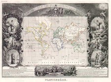 World and World Map By Victor Levasseur