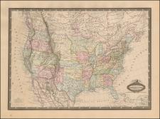 United States Map By F.A. Garnier
