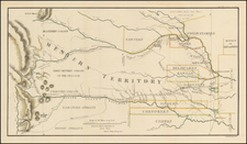 Plains and Rocky Mountains Map By Col. Henry P. Dodge  &  Lt. Enoch Steen