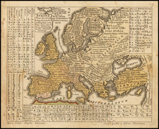 Europe and Europe Map By Homann Heirs / Gottfried Hensel