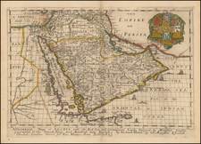 Middle East and Arabian Peninsula Map By Richard Blome