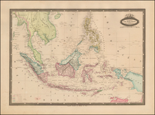 Southeast Asia and Philippines Map By F.A. Garnier