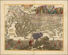 Holy Land Map By Jan Van den Avelen
