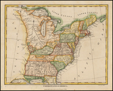 United States Map By Charles Wilkes