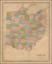 Ohio Map By Thomas Gamaliel Bradford