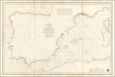 France, Italy, Spain and Balearic Islands Map By Don Vincente Tofiño de San Miguel