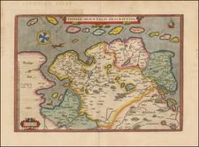 Netherlands and Norddeutschland Map By Abraham Ortelius