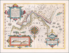 Polar Maps and South America Map By Gerard Mercator