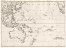 Oceania Map By Jean Baptiste Poirson
