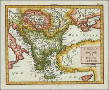 Hungary, Romania, Balkans, Turkey, Turkey & Asia Minor and Greece Map By Citoyen Berthelon