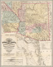 Arizona and California Map By J.C. Mallery / J.W. Ward