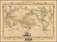 World Map By John Tallis