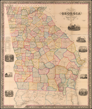 Georgia Map By James R. Butts