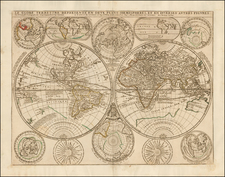 World and World Map By Jean-Baptiste Nolin / Vincenzo Maria Coronelli