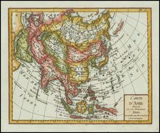 Asia and Asia Map By Citoyen Berthelon