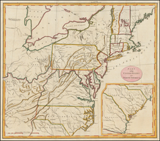 United States, Mid-Atlantic and Southeast Map By G. H. Loskiel