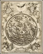 World, World and Eastern Hemisphere Map By Heinrich Scherer