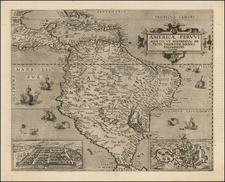 South America and Brazil Map By Cornelis de Jode
