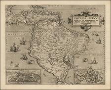 South America and Brazil Map By Cornelis de Jode
