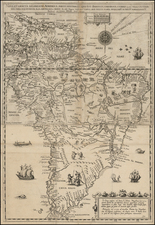 South America Map By Levinus Hulsius