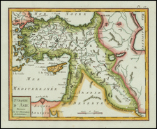 Central Asia & Caucasus, Middle East and Turkey & Asia Minor Map By Citoyen Berthelon