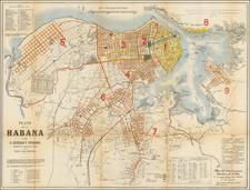 Cuba Map By Jose Valdepares / Hoen & Co.