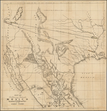 Texas, Plains, Southwest, Rocky Mountains, Mexico, Baja California and California Map By Albert Gilliam