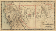 Southwest and California Map By Joseph Hutchins Colton