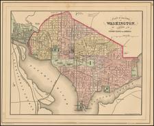Mid-Atlantic and Washington, D.C. Map By Samuel Augustus Mitchell Jr.