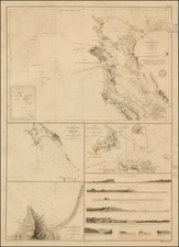 California and San Francisco & Bay Area Map By Depot de la Marine / Frederick William Beechey