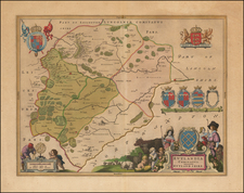 British Counties Map By Johannes Blaeu