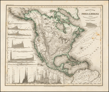 Bergsystem von Nord-America 1848 Nach den neuesten Forschumgen entw. By Joseph Meyer