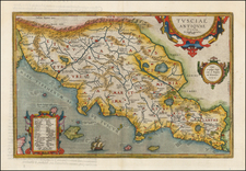 Northern Italy Map By Abraham Ortelius